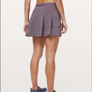 lululemon pace rival skirt in graphite purple